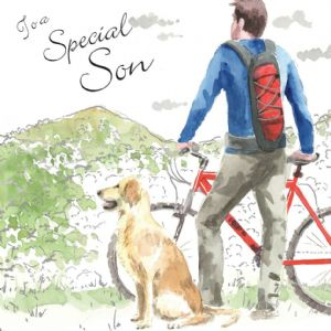 NES90  Special Son Birthday Card with Dog